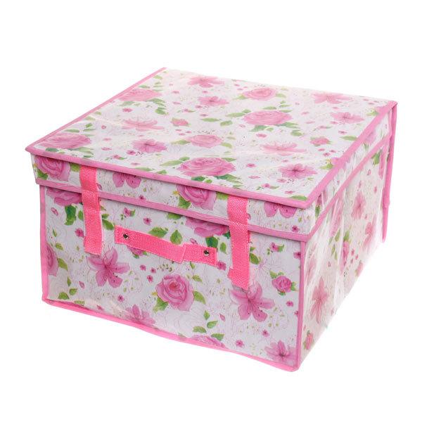 Коробка д/хранения вещей 40*40*25 6846 купить оптом и в розницу