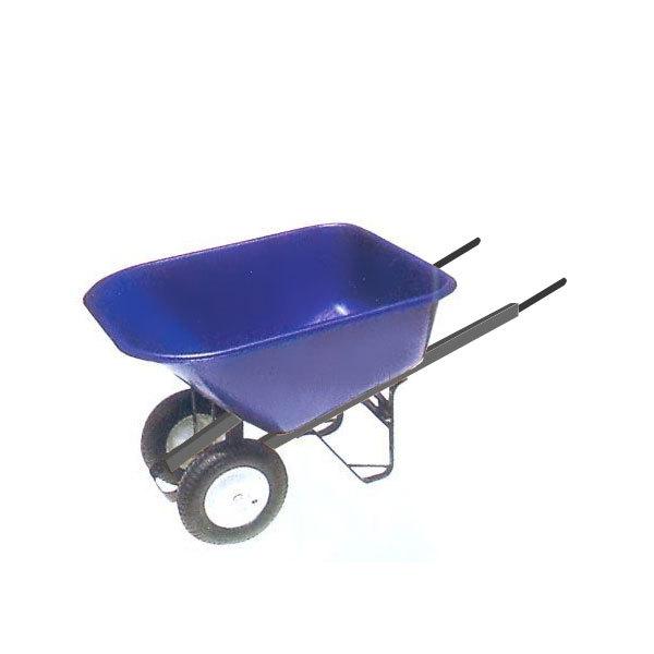 Тачка садовая WВ9600 2-х кол, 180л/130кг (4.00-8), кузов пластик 4мм, с опрокидыв-м купить оптом и в розницу
