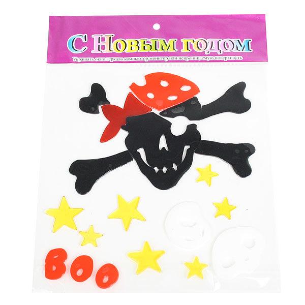 Наклейки силиконовые 21*26см ″Пират″ В2304 купить оптом и в розницу