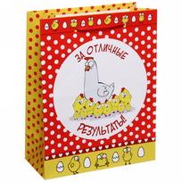Пакет 18х23 см матовый ″За отличные результаты″, Отважные курицы, вертикальный купить оптом и в розницу