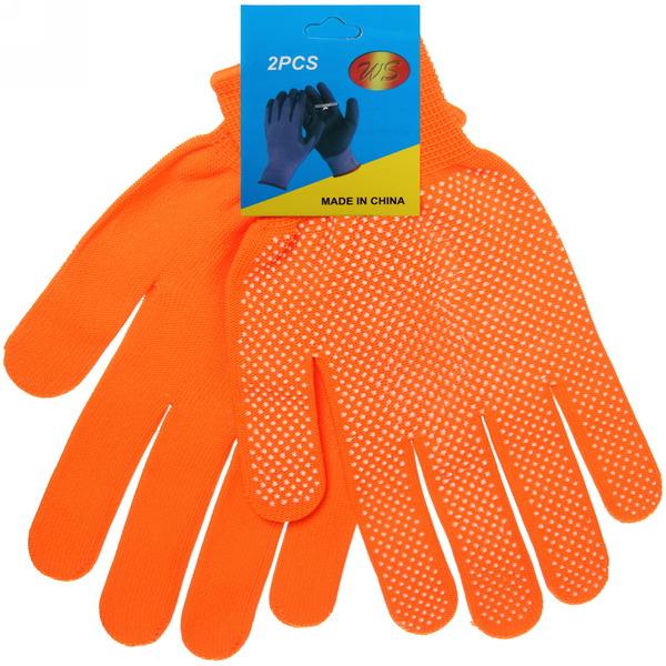 Перчатки нейлоновые с ПВХ покрытием 8 размер оранжевые А-7 купить оптом и в розницу