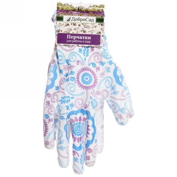 Перчатки нейлоновые с ПВХ покрытием полуобитые 8 размер Узоры купить оптом и в розницу