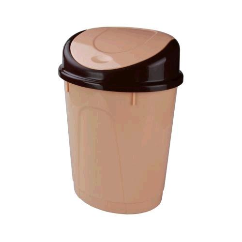 Контейнер для мусора 8л. (овальный)(бежевый)(уп.5) (Октябрьский) купить оптом и в розницу