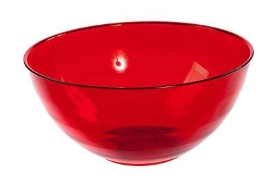 """Салатник """"Florencia"""" 1,8 л (красный п/прозрачный) *36 купить оптом и в розницу"""