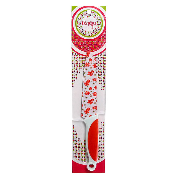 Нож кухонный ″Цветы″ поварской 15,5см Селфи купить оптом и в розницу