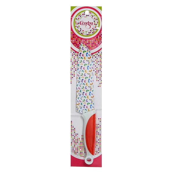 Нож кухонный ″Цветы″ поварской 16,5см Селфи купить оптом и в розницу