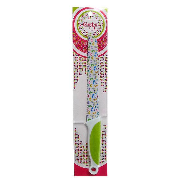 Нож кухонный ″Цветы″ хлебный 19,5см Селфи купить оптом и в розницу