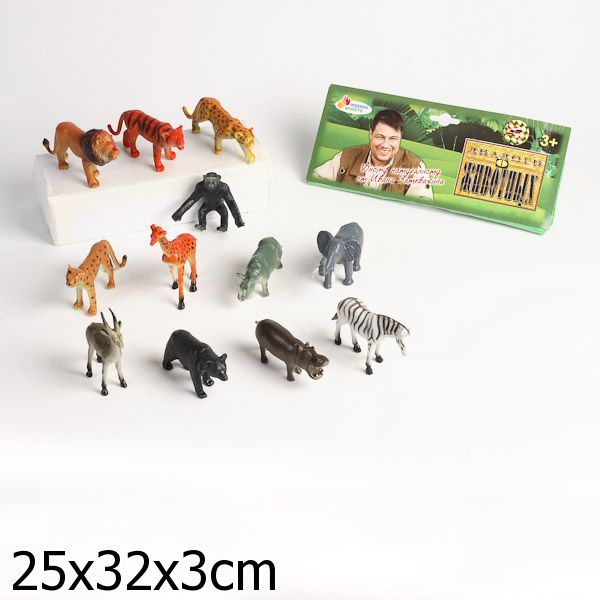 Набор животных 2495НА дикие животные в пак. купить оптом и в розницу