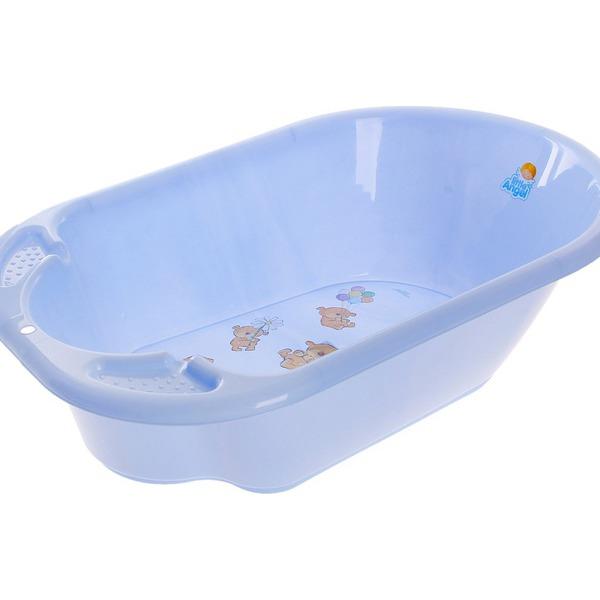 """Ванночка детская """"Дельфин"""" с дизайном Bears голубой пастельный*1 купить оптом и в розницу"""