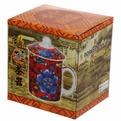 Кружка керамическая с ситом 200мл ″Китайская красавица″ купить оптом и в розницу