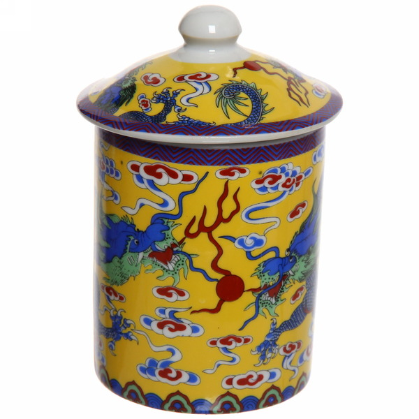 Кружка керамическая с ситом 200мл ″Голубой дракон″ купить оптом и в розницу