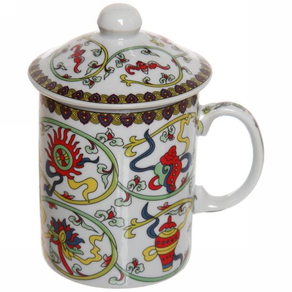 Кружка керамическая с ситом 200мл ″Попугаи″ купить оптом и в розницу