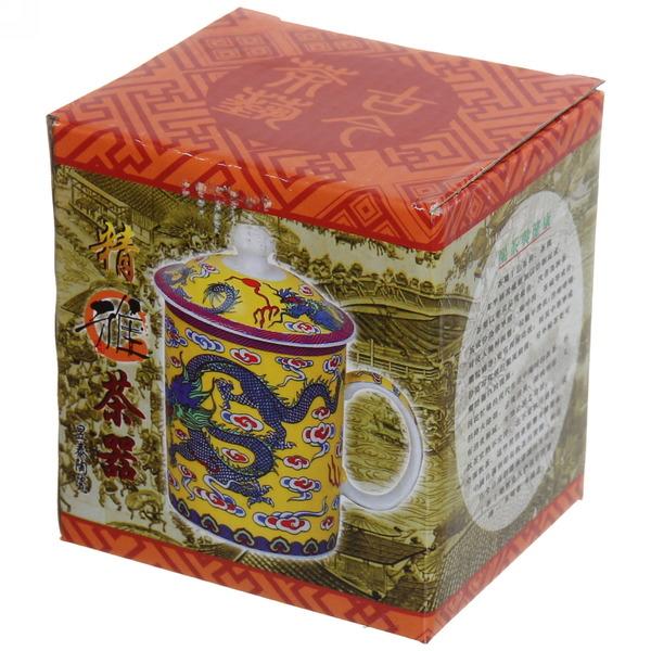 Кружка керамическая с ситом 200мл ″Драконы″ купить оптом и в розницу