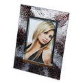 Фоторамка из стекла 10х15см жатая кожа купить оптом и в розницу