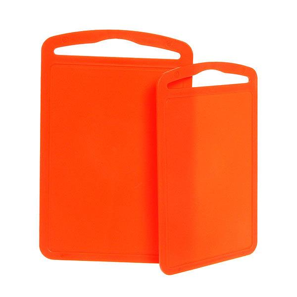 Доска разделочная пластиковая в наборе 2шт оранжевый 32*20см купить оптом и в розницу