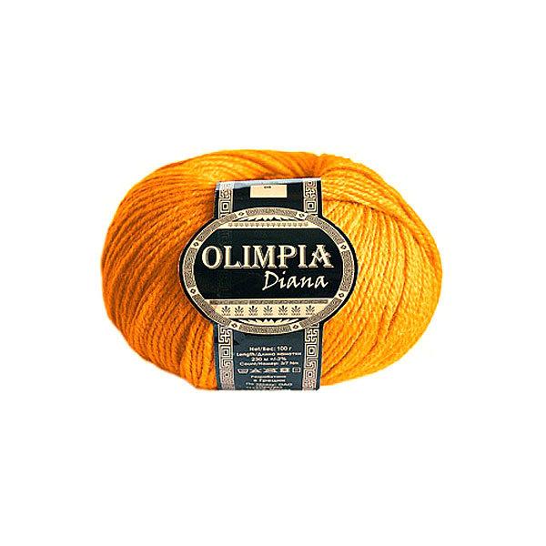 Пряжа для вязания Olimpia Diana цв.12 апельсин 500г 5шт купить оптом и в розницу