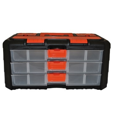 Сет для мелочей GRAND 3 секции черный/оранжевый *12 купить оптом и в розницу