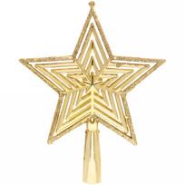 Звезда на ёлку 15см ″Классический блеск″ золото купить оптом и в розницу
