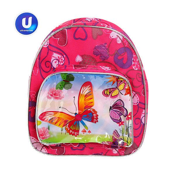Рюкзак детский ″Ультрамарин - Яркие бабочки″, цвет розовый 24*21,5*7,5 купить оптом и в розницу