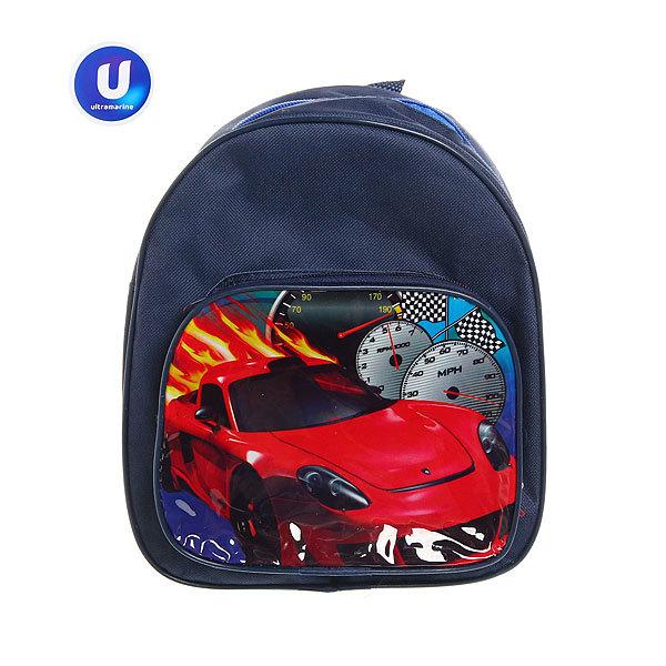 Рюкзак детский ″Ультрамарин - Крутые машины″, цвет синий 24*21,5*7,5 купить оптом и в розницу