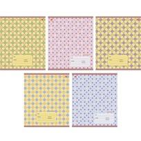 Тетрадь 12 л. линия Разноцветный орнамент 5 видов /Эксмо канц купить оптом и в розницу