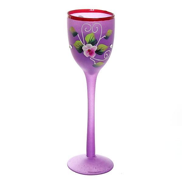 Свеча гелевая в матовом бокале, фиолетовая, 19 см купить оптом и в розницу