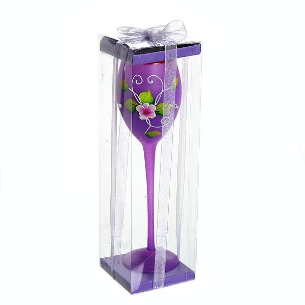 Свеча гелевая ″Сердечная″ 23 см фиолетовая 9038 B купить оптом и в розницу