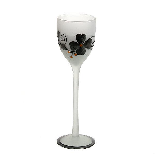 Свеча гелевая ″Сердечная″ 20 см бело-черная 9220 Q купить оптом и в розницу