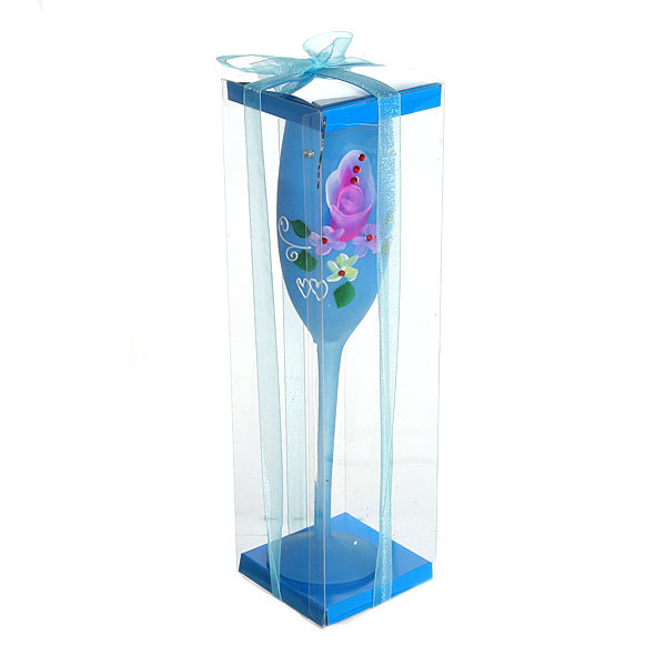 Свеча гелевая ″Сердечная″ 25 см синяя 9527 В купить оптом и в розницу