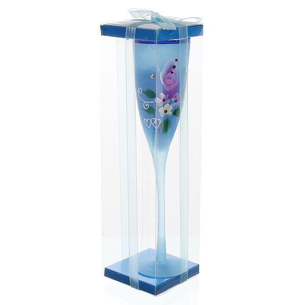 Свеча гелевая ″Сердечная″ 25 см синяя 9527 Z купить оптом и в розницу