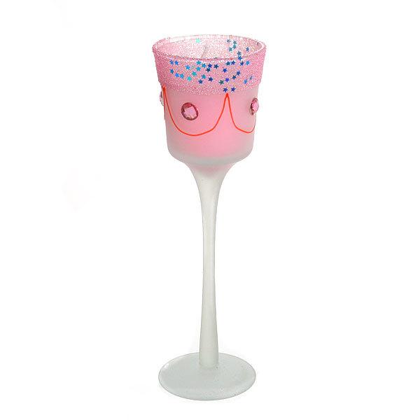 Свеча гелевая ″Сердечная″ 20 см розовая 9820 T купить оптом и в розницу