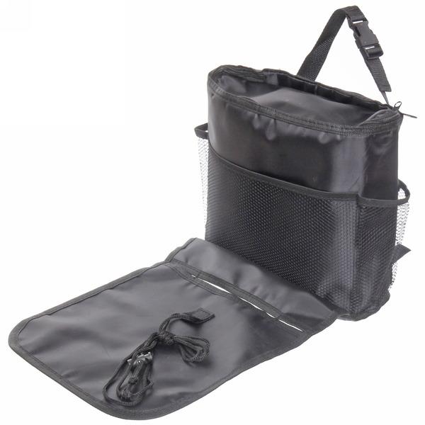 Органайзер с сумкой-холодильником на заднюю спинку переднего сидения 39*30*4см, цвет черный купить оптом и в розницу
