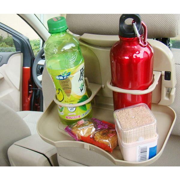 Столик складной автомобильный, с подстаканниками 15*30, цвет кофе купить оптом и в розницу