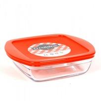 Блюдо квадратное с крышкой O CUISINE 20x17x5.5см 1л (1/6) купить оптом и в розницу