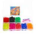 Набор резинок для плетения браслетов 1200шт 8 цветов Прямоугольный купить оптом и в розницу