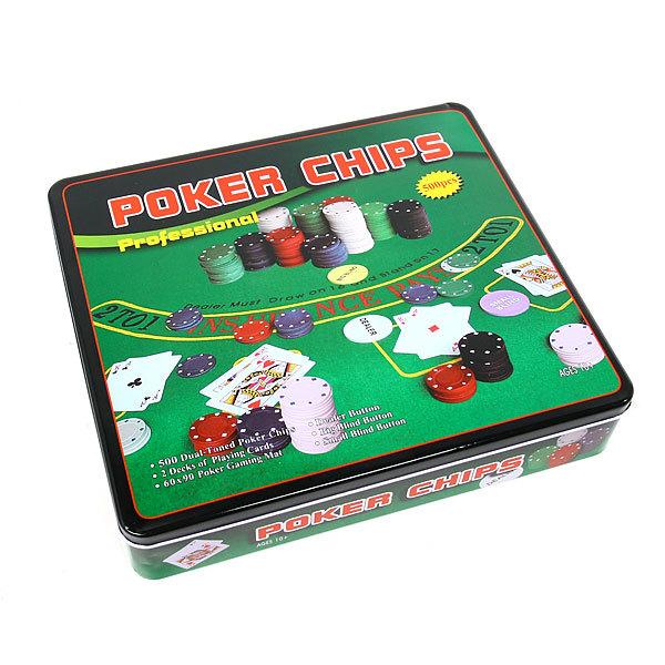 Игра настольная Покер, 500 предметов 500ТХ, 33*29*6,5 купить оптом и в розницу
