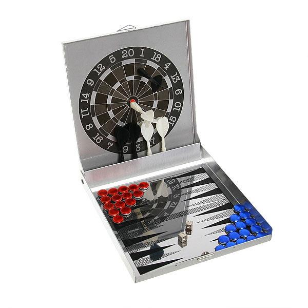Магнитная игра 2 в 1 (дартс, нарды) 12,5*14,5*2 см купить оптом и в розницу