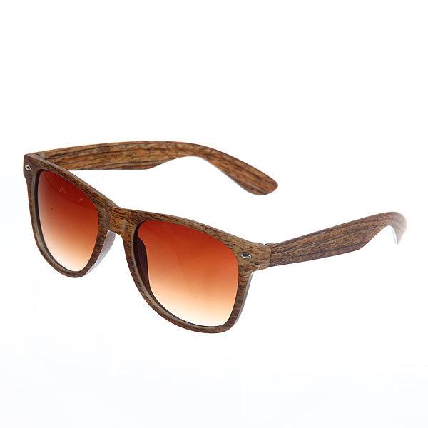 Очки солнцезащитные ″Стиль-2017″ , цвет оправы коричневое дерево купить оптом и в розницу