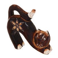 Фигурка из дерева ″Кошка выгнутая″, 15см, албезия купить оптом и в розницу