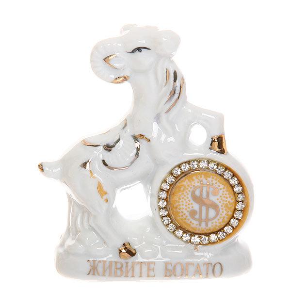 Фигурка керамическая ″Козочка бриллиант″, 8*6,5см купить оптом и в розницу