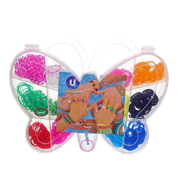 Набор резинок для плетения браслетов 600штук 12 цветов Бабочка купить оптом и в розницу