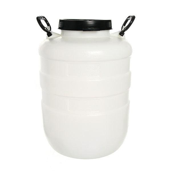 Бочка пластиковая 40л белая с крышкой купить оптом и в розницу