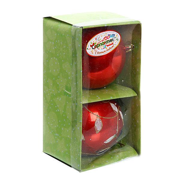 Новогодние шары ″Подвеска на рубине″ 10см (набор 2шт.) купить оптом и в розницу