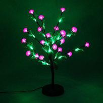 Световое дерево LED 55см, ″Циния красная″ RB( красный, зеленый) купить оптом и в розницу