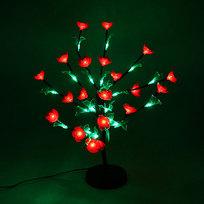 Световое дерево LED 53см, ″Бальзамин красный″ RB(красный, синий) купить оптом и в розницу