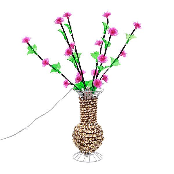 Световое дерево LED 60см, ″Цветы в вазе″, RB( красный, зеленый) купить оптом и в розницу