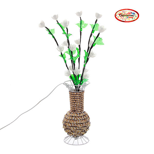 Световое дерево LED 60см, ″Тюльпаны в вазе″ ,RB( красный, зеленый) купить оптом и в розницу