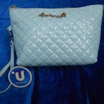 Косметичка, лакированная эко-кожа ″Бонита″ цвет голубой купить оптом и в розницу