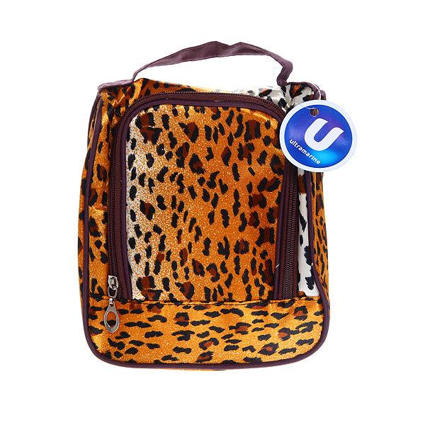 Косметичка-сумочка ″Леопард″ с зеркалом купить оптом и в розницу