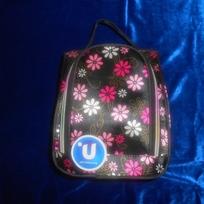 Косметичка-сумочка ″Цветочки″ с зеркалом купить оптом и в розницу